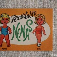 Coleccionismo Recortables: RECORTABLE NENAS. MARI Y LOLI. Nº 3. AÑO 1977. EDITORIAL EVA. MEDIDA 12,5 X 18 CM. VER FOTOS.. Lote 278612093