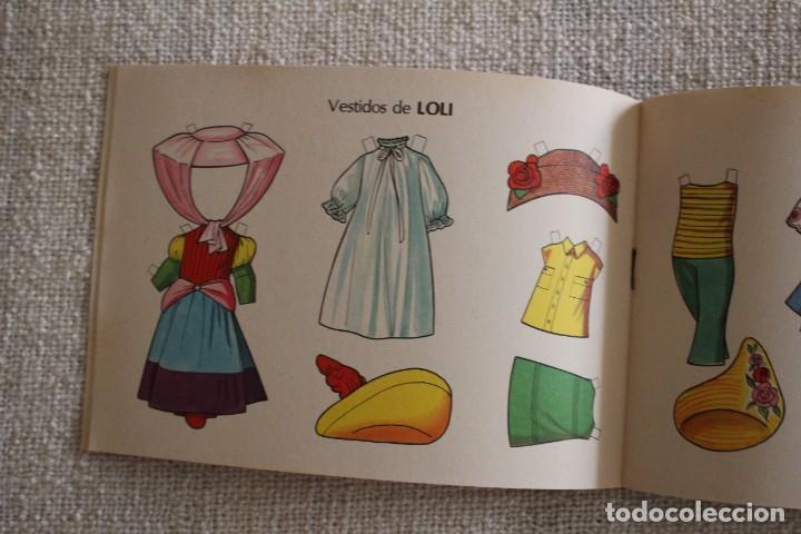 Coleccionismo Recortables: Recortable NENAS. Mari y Loli. nº 3. Año 1977. Editorial EVA. Medida 12,5 x 18 cm. Ver fotos. - Foto 5 - 278612093