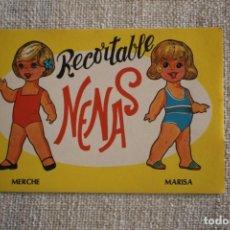 Coleccionismo Recortables: RECORTABLE NENAS. MERCHE Y MARISA. Nº 1. AÑO 1977. EDITORIAL EVA. MEDIDA 12,5 X 18 CM. VER FOTOS.. Lote 278612343
