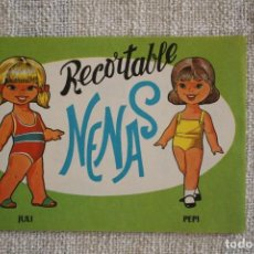Coleccionismo Recortables: RECORTABLE NENAS. JULI Y PEPI. Nº 9. AÑO 1977. EDITORIAL EVA. MEDIDA 12,5 X 18 CM. VER FOTOS.. Lote 278612748