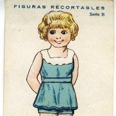 Coleccionismo Recortables: FIGURAS RECORTABLES. 'CHICO Y CHICA'. FINALES SIGLO XIX. COLECCIÓN DE 10 UNIDADES NUMERADAS. Lote 287576948