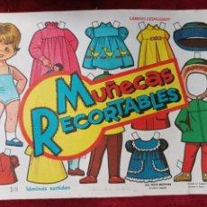 Coleccionismo Recortables: MUÑECAS RECORTABLES 1ª SERIE EDITORIAL VASCO AMERICANA 1963 50 LÁMINAS. SON 5 COLECCIONES DE 10 RECO. Lote 290906538