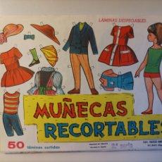 Coleccionismo Recortables: 50 LÁMINAS EDITORIAL VASCO AMERICANA SERIE EVA DE LA 801 A LA 809. Lote 290908253