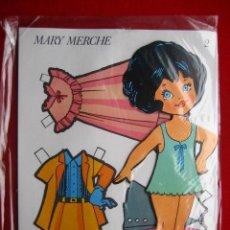 Coleccionismo Recortables: MARY MERCHE Nº 2, RECORTABLE CON SOPORTE PARA QUE SE MANTENGA LA MUÑECA DE PIE. Lote 293828193