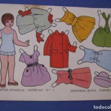 Coleccionismo Recortables: LAMINA RECORTABLE MUÑECA EDITORIAL ROMA RECORTES ESTRELLA Nº 4. 15,5X11 CM.. Lote 295861608