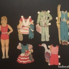 Coleccionismo Recortables: CROMOS TROQUELADOS AÑOS 30 MUÑECA COMIC POCHOLO 5 VESTIDOS RECORTABLES. Lote 296800823