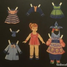 Coleccionismo Recortables: RECORTABLE EDITORIAL ROMA VESTIDOS TERCIOPELO MUÑECA ANITA. Lote 296872668