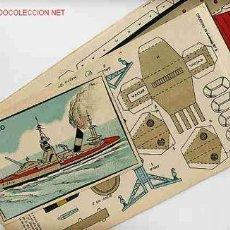 Coleccionismo Recortables: RECORTABLE BARCO CRUCERO. Lote 130657568