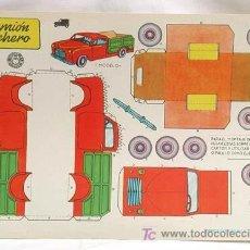 Coleccionismo Recortables: RECORTABLE EDICIONES BRUGUERA 1959 CAMIÓN LECHERO 30 CM X 21 CM. Lote 4086783