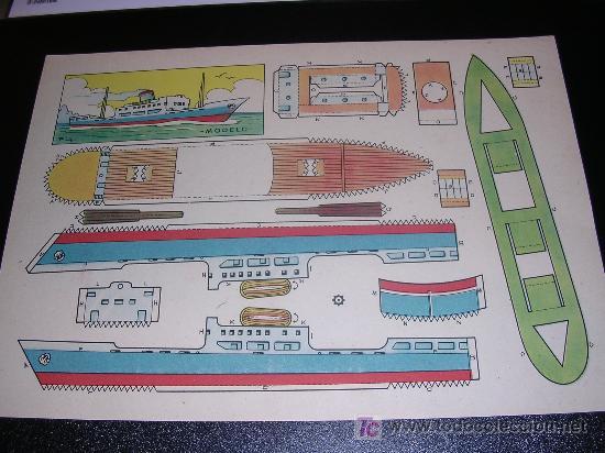 RECORTABLE BARCO, RECORTABLE BRUGUERA 1959 (Coleccionismo - Recortables - Transportes)