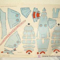 Coleccionismo Recortables: GLOSTER METEOR N.F. MK II-14(INGLATERRA),ED.TORAY,AÑO 1962. Lote 27141620