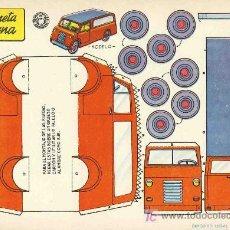 Coleccionismo Recortables: RECORTABLE DE TRANSPORTES: CAMIONETA MODERNA. 1959 (ED.BRUGUERA). Lote 11963644