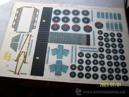 Coleccionismo Recortables: TREN MONUMENTAL- 35 X 50 CM-4 LÁMINAS- CHOCOLATES UÑA.- VALLADOLID. - Foto 4 - 15671062