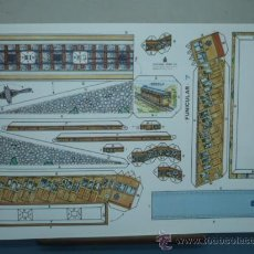 Coleccionismo Recortables: RECORTABLE EDITORIAL ROMA TAMAÑO 270X400 VEHICULOS EPOCA Nº7 FUNICULAR. Lote 10611061