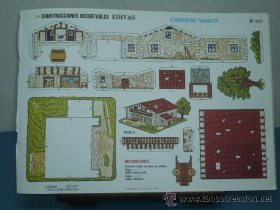 RECORTABLE EDITORIAL EDIVAS CASERIO VASCO Nº 527 TAMAÑO 240X340 (Coleccionismo - Recortables - Transportes)