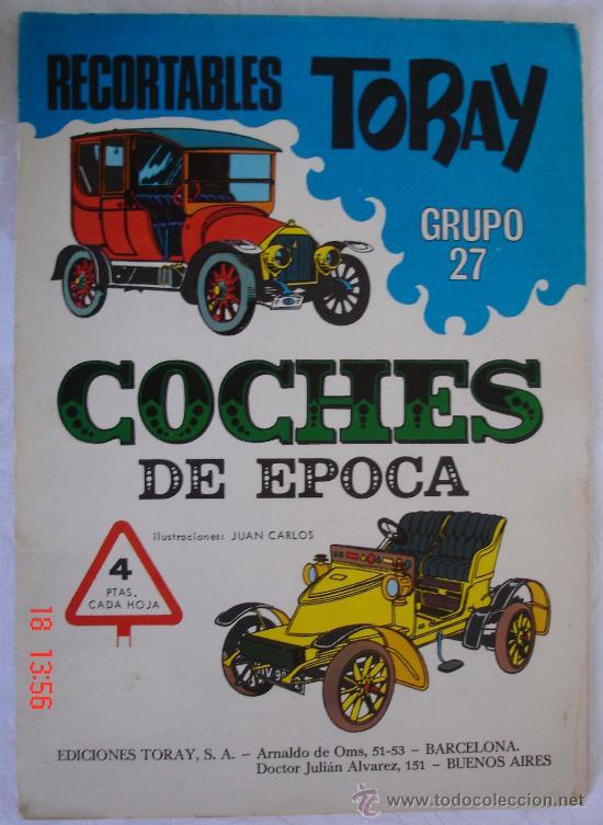 RECORTABLES TORAY GRUPO 27 - COCHES DE ÉPOCA - BARCELONA (Coleccionismo - Recortables - Transportes)
