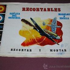 Coleccionismo Recortables: RECORTABLES AVIONES -EDITORIAL VERTICE -BARCELONA. Lote 176268002