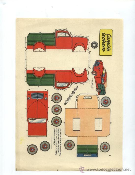 CAMION LECHERO (Coleccionismo - Recortables - Transportes)