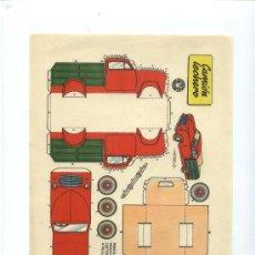 Coleccionismo Recortables: CAMION LECHERO. Lote 22657959