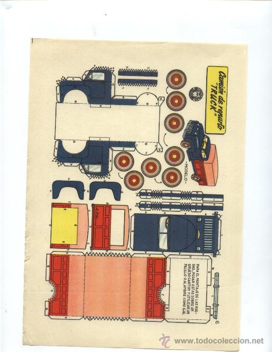 CAMION DE REPARTO TRUCK (Coleccionismo - Recortables - Transportes)