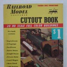 Coleccionismo Recortables: RAILROAD MODEL CRAFTSMAN. CUTOUT BOOK. LIBRO CON RECORTABLES DE FERROCARRILES. ESTACION.. Lote 13893561