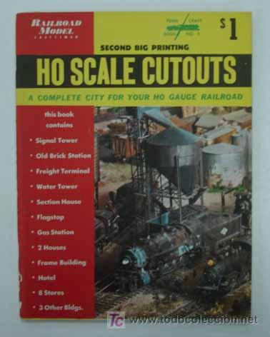 RAILROAD MODEL CRAFTSMAN. CUTOUT BOOK. LIBRO CON RECORTABLES DE FERROCARRILES. (Coleccionismo - Recortables - Transportes)