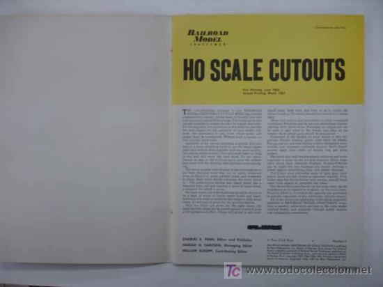 Coleccionismo Recortables: RAILROAD MODEL CRAFTSMAN. CUTOUT BOOK. LIBRO CON RECORTABLES DE FERROCARRILES. - Foto 2 - 13893593