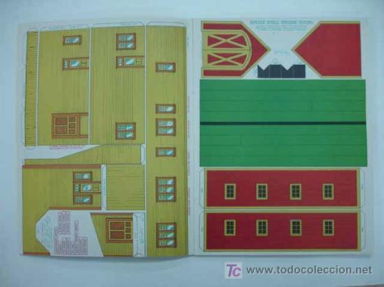 Coleccionismo Recortables: RAILROAD MODEL CRAFTSMAN. CUTOUT BOOK. LIBRO CON RECORTABLES DE FERROCARRILES. ESTACION. - Foto 3 - 13893561