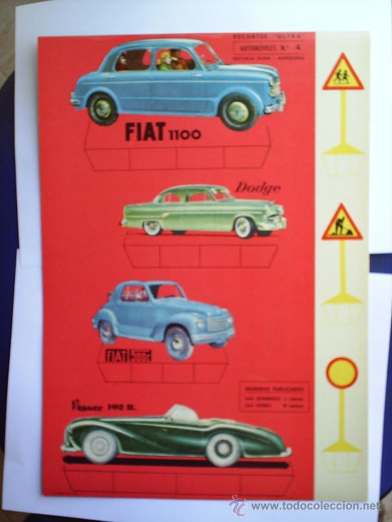 RECORTES ULTRA ,1961 , AUTOMOVILES, N.4 ,EN CARTULINA ,EDITORIAL ROMA ,RECORTABLE (Coleccionismo - Recortables - Transportes)