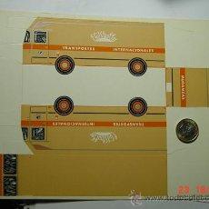 Coleccionismo Recortables: 9179 RECORTABLE CAMION TRANSPORTES PEGASO F.GILSTAUFFER AÑOS 1960 MAS EN MI TIENDA C&C. Lote 13829650