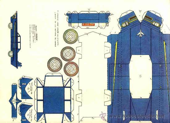 RECORTABLE DE TRANSPORTES: COCHE (RECORTES PEQUE, ED.ROMA, NUM.2) (Coleccionismo - Recortables - Transportes)