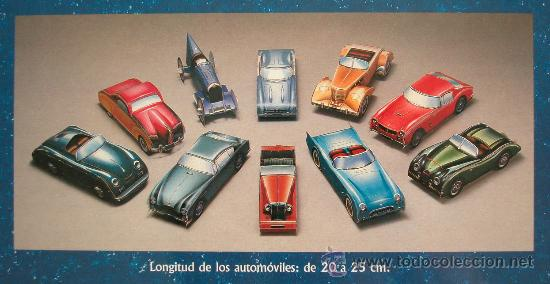 Coleccionismo Recortables: CLASICOS DEL AUTOMOVIL - 10 RECORTABLES DE COCHES LEGENDARIOS - SUSAETA 1992 - Foto 2 - 26334447