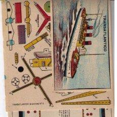 Coleccionismo Recortables: EL BUQUE FLOTADOR. RECORTABLE DE EDICIONES TBO. Lote 24285887