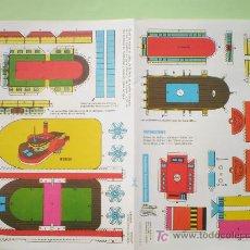 Coleccionismo Recortables: GIN. BARCO DE RUEDAS . Lote 26914853