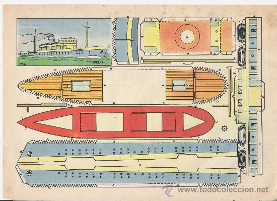 RECORTABLE BARCO (Coleccionismo - Recortables - Transportes)
