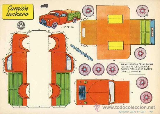 Coleccionismo Recortables: Coleccion completa de 9 recortables de transportes. Coches (Ed.Bruguera 1959) (v.fotos adicionales) - Foto 2 - 28268386
