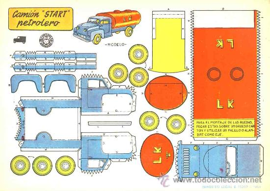 Coleccionismo Recortables: Coleccion completa de 9 recortables de transportes. Coches (Ed.Bruguera 1959) (v.fotos adicionales) - Foto 3 - 28268386