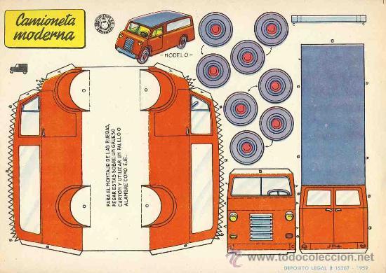 Coleccionismo Recortables: Coleccion completa de 9 recortables de transportes. Coches (Ed.Bruguera 1959) (v.fotos adicionales) - Foto 4 - 28268386