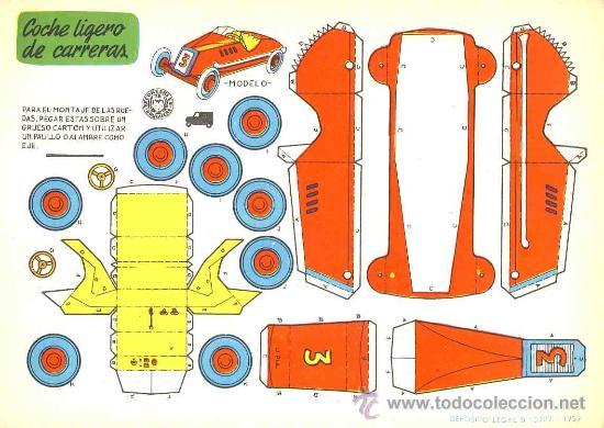 Coleccionismo Recortables: Coleccion completa de 9 recortables de transportes. Coches (Ed.Bruguera 1959) (v.fotos adicionales) - Foto 5 - 28268386