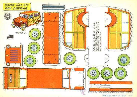Coleccionismo Recortables: Coleccion completa de 9 recortables de transportes. Coches (Ed.Bruguera 1959) (v.fotos adicionales) - Foto 7 - 28268386