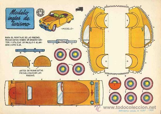 Coleccionismo Recortables: Coleccion completa de 9 recortables de transportes. Coches (Ed.Bruguera 1959) (v.fotos adicionales) - Foto 8 - 28268386