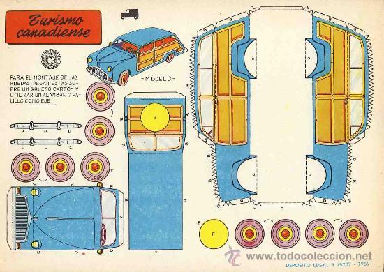 Coleccionismo Recortables: Coleccion completa de 9 recortables de transportes. Coches (Ed.Bruguera 1959) (v.fotos adicionales) - Foto 9 - 28268386