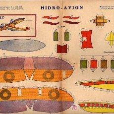 Coleccionismo Recortables: BUEN RECORTABLE HIDRO AVION CONSTRUCCIONES EL NIÑO EDICONES ARTISTA . Lote 18976888