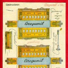 Colecionismo Recortáveis: RECORTABLE TREN , PUBLICIDAD DE CEREGUMIL , R16B. Lote 110950042