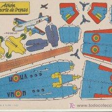 Coleccionismo Recortables: RECORTABLES BRUGUERA (21,5X29) BOMBARDERO NOCTURNO. AÑO 1959.. Lote 19771724