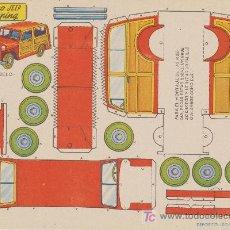 Coleccionismo Recortables: RECORTABLES BRUGUERA (21X29) COCHE TIPO JEEP PARA CAMPING. AÑO 1959.. Lote 19874924