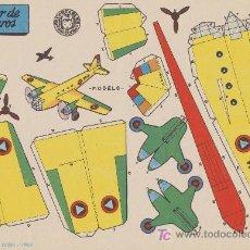 Coleccionismo Recortables: RECORTABLES BRUGUERA (21X29) BIMOTOR DE PASAJEROS. AÑO 1959.. Lote 19875047