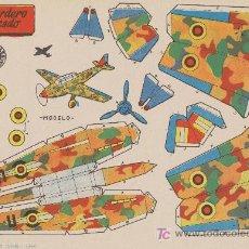 Coleccionismo Recortables: RECORTABLES BRUGUERA (21X29) BOMBARDERO EN PICADO. AÑO 1959.. Lote 19875183