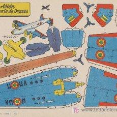 Coleccionismo Recortables: RECORTABLES BRUGUERA (21X29) AVIÓN TRANSPORTE DE TROPAS. AÑO 1959.. Lote 19875283