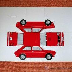 Coleccionismo Recortables: RECORTABLE TROQUELADO SEAT 127, TIPO FIAT, GRÁFICAS BREOGÁN, MADRID, AÑOS 70.. Lote 252916630